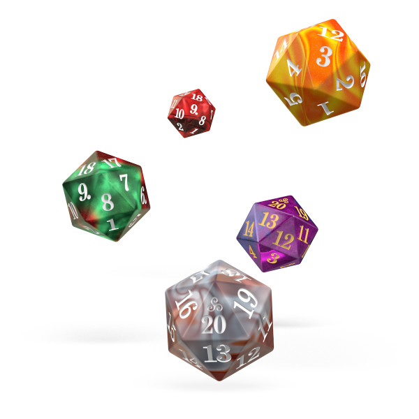 D20 Spindown Gemidice